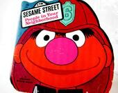 Vintage Children's Book - Sesame Street People in Your Neighborhood, A Golden Shape Book
