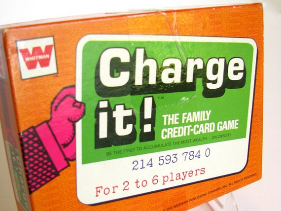Vintage Card Game Charge It from Whitman