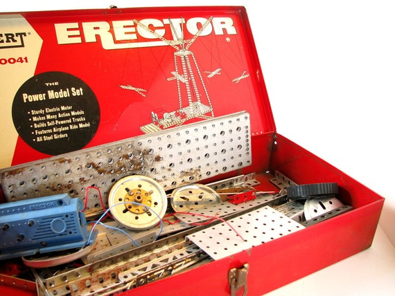 Erector Set 10041 The Power Model Set 1958