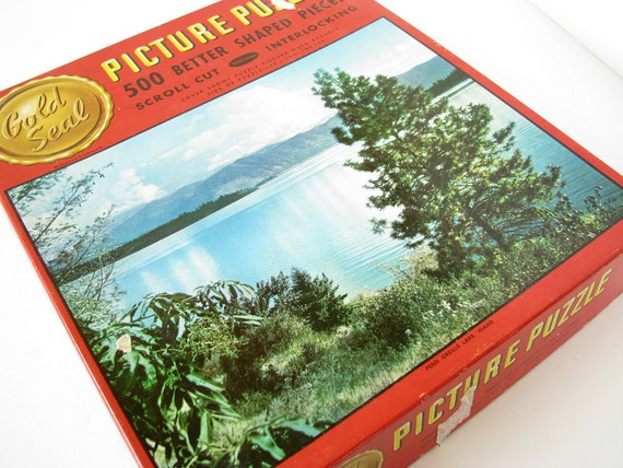 RESERVED FOR DEENA Vintage Puzzle Pend Oreille Lake Idaho Whitman Gold Seal Series 517, 500 Pieces