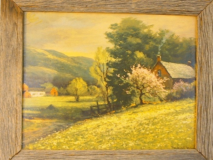 Early Spring By Robert Wood Framed Vintage Lithograph
