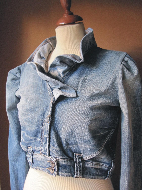 Your Ruffle Denim Jacket - photo#17