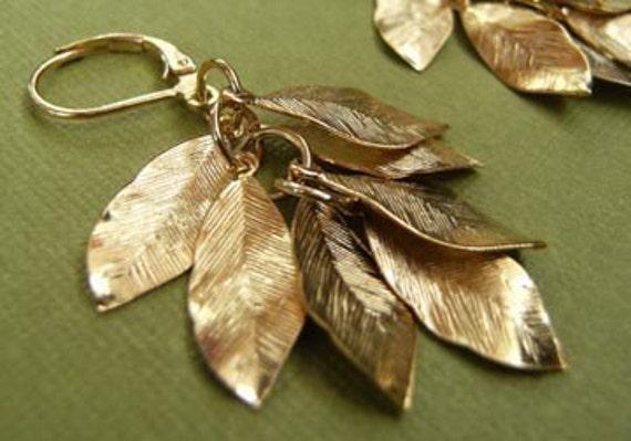 Golden Leaves Earrings - IN STOCK