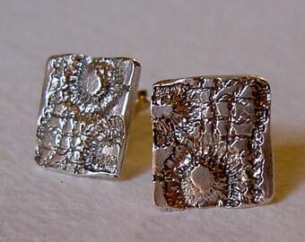 Pendientes cuadrados puntilla/ Lace square earrings