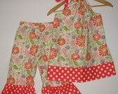 On Sale 30.99  normally  35.99 Red Tussie mussie Pillowcase dress & ruffled pants   (available  in sizes xsmall or smaill