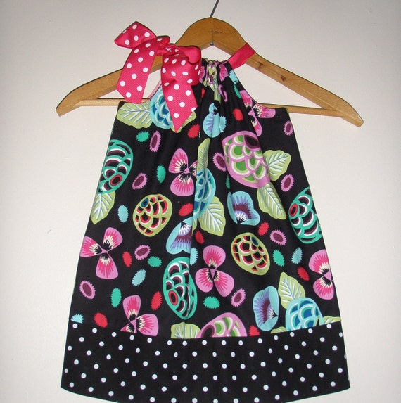 On sale normally 15.99 now 13.59 Pillowcase dress in Rivoli's Garden fabric by Alexander Henry  (sizes  xsmall to medium)