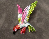 Vintage Bird Brooch Colorful Enamel Pin by Art P3011