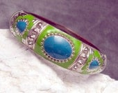 Vintage Clamper Bracelet Bright Enamel Sixties B3939