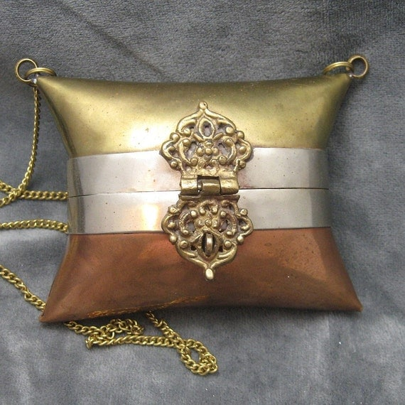 RESERVED Mixed Metal Mini Purse Necklace M3403