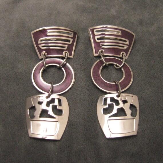 Modernist Earrings Long Large Berebi E4268