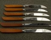 SAle WAS 28 Set of Six Robeson Bakelite Steak Knives