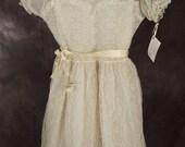 Vintage Girl's White Communion Dress
