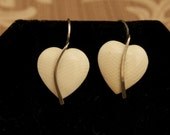 SALE WAS 24 Vintage Heart Earrings with Sterling Wire
