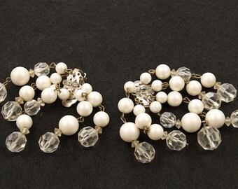 Marvella Pearl and Crystal Cha Cha Earrings
