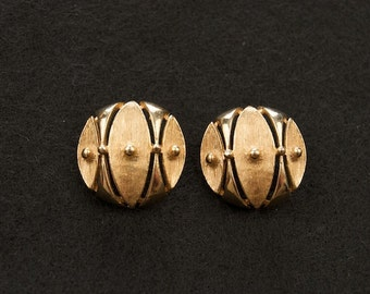 Signed Sarah Coventry Gold Clip Earrings