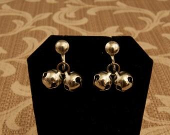 Vintage Screw Back Jingle Bell Earrings
