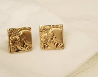 SALE WAS 26 Vintage Horse Head Cuff Links