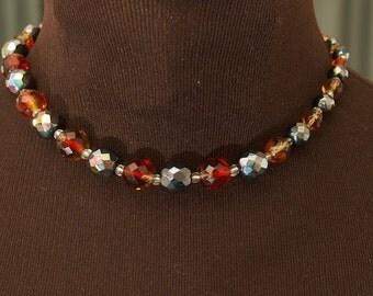 SALE WAS 45 Vintage German Crystal Necklace