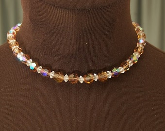 SALE WAS 65 Beautiful Vintage Laguna Crystal Choker