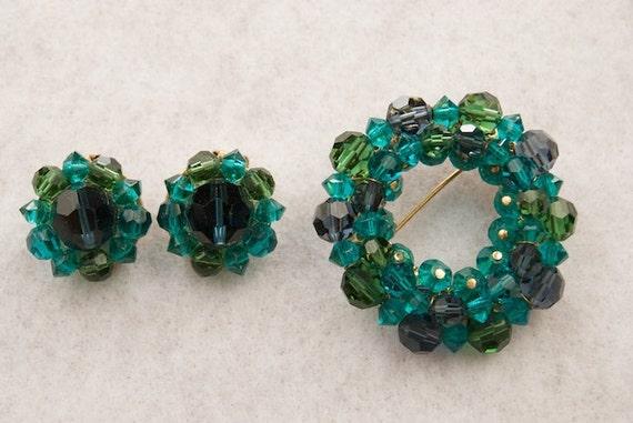 Lisner Demi Parure Earrings and Brooch
