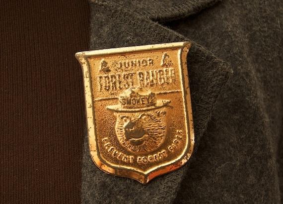 SALE WAS 75 Vintage Junior Forest Ranger Badge