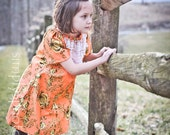 Tangerine Sorbet Lace Peasant Dress in your choice of sizes 6M to 6X