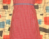 Red and white checkered Gingham ghingham stretch dress 16 plus size