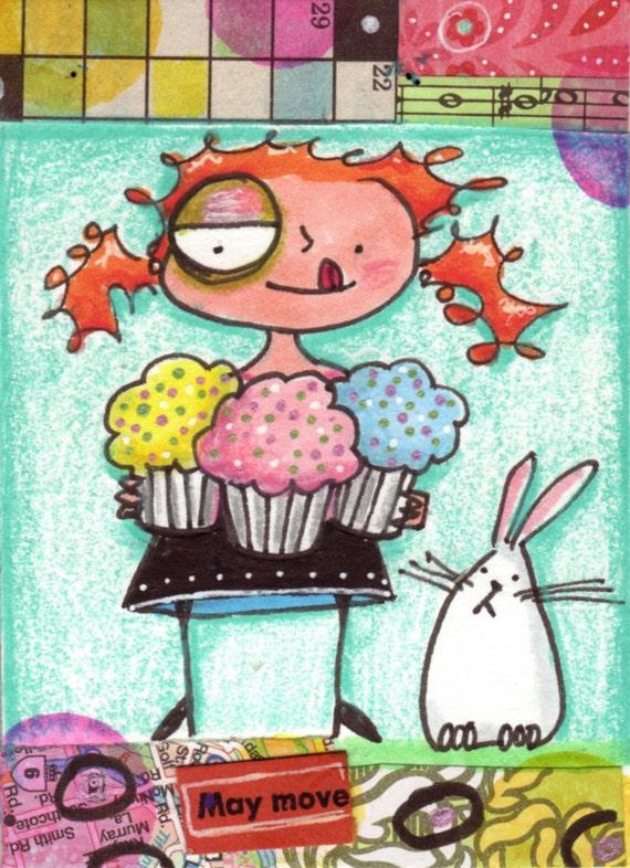 Cupcake Girl and Bunny