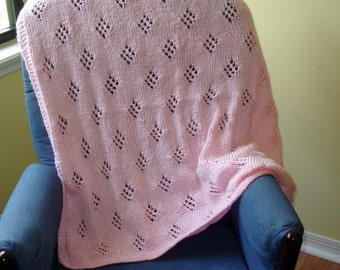 Knit4aCure Pink Baby Blanket