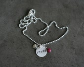 LOVED Hand-stamped Sterling Silver Necklace