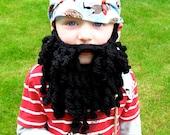 Crochet beard pattern pirate beard crochet pirate beard bearded lady child/adult size Instant Download