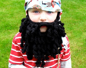 Crochet beard pattern pirate beard crochet pirate beard bearded lady child/adult size Instant Download