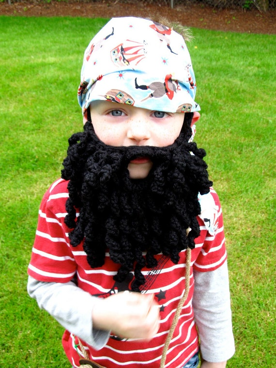 PDF Crochet Pattern  Pirate Beard/ Bearded Lady pattern for child/adult sizes