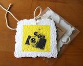 Handmade Gift Tag - Vintage Cameras - Set of 3