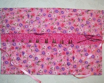 Interchangeable Needle Case - Pink Floral