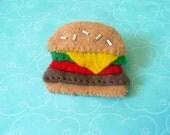 Juicy Hamburger Felt Pin