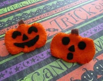 Pumpkin Felt Mini Pins, Set of 2