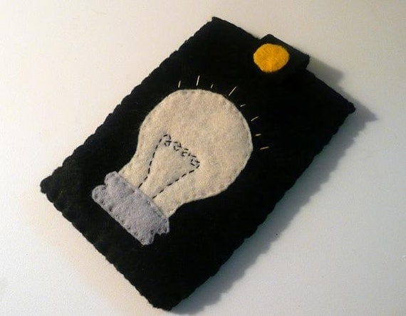Lightbulb iPhone/iPod Gadget Black Felt Case