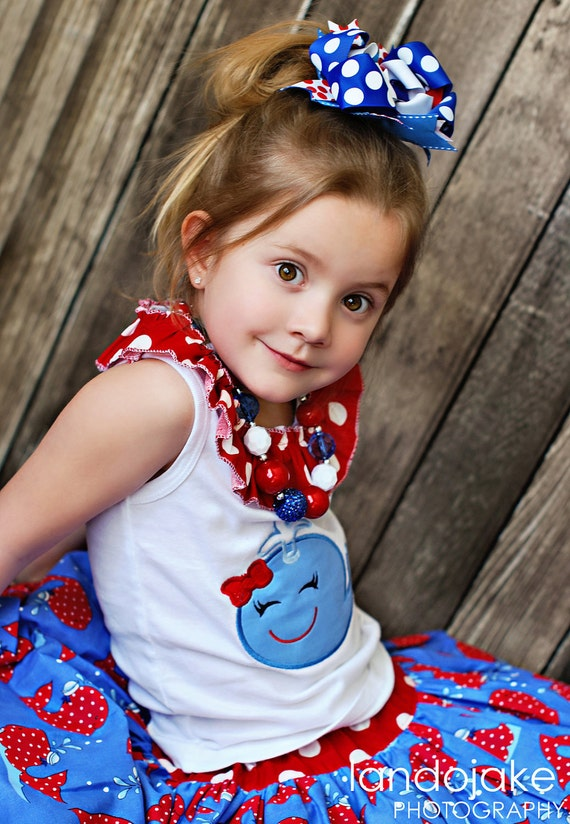 M2M Monkey Tees Whale Outfit Chunky Necklace for girls