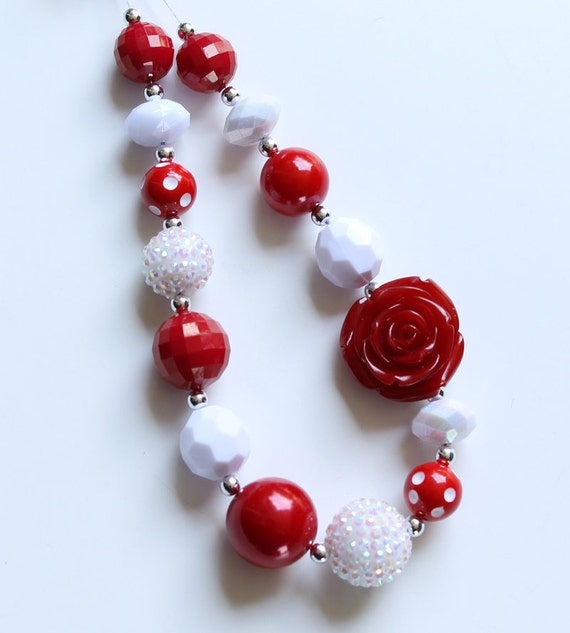 Custom order for tjaneca Canada Day Chunky Necklaces