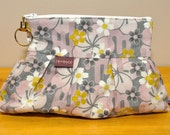 Kirby Wristlet in Serenity in Mauve