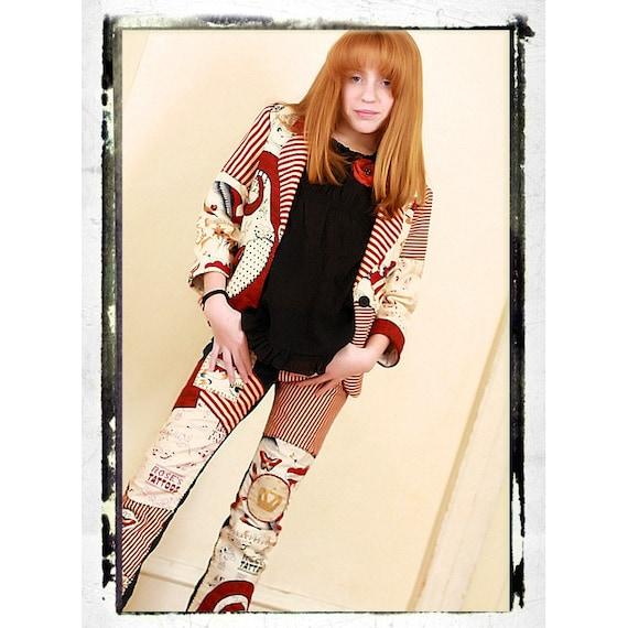 TATTOO PARLOR  Rock and Roll Jeans Girls Sz. 12 slim DeepBlueC Boutique