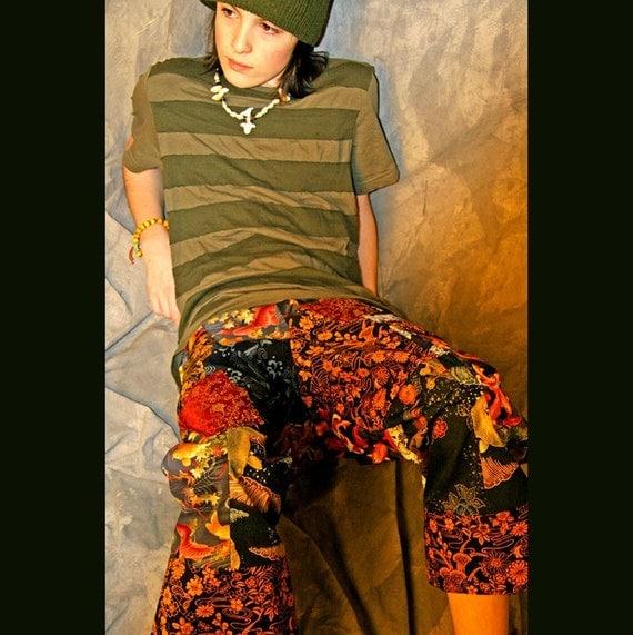 Custom DIY Patchwork Longboard Shorts..Adult size..DeepBlueC