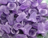 36 Frosted Purple Lucite Rosebuds No Hole 12x10mm