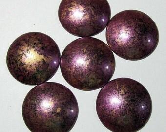 Vintage Violet Round Cabochons