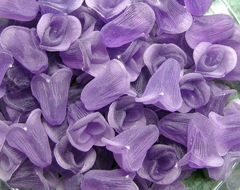 Frosted Purple Lucite Rosebuds No Hole