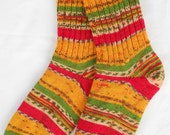 Knitted socks women LARGE size - Multicolor