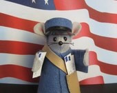 Felt Mouse Dressed as a MAILMAN MOUSE