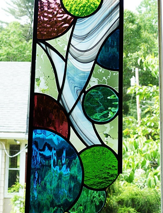 Stained Glass Crazy About Circles Panel