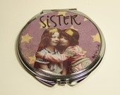 Sisters Collage Art Compact Mirror